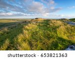 grassy moorland at the top of... | Shutterstock . vector #653821363