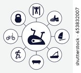 active icons set. set of 9... | Shutterstock .eps vector #653832007