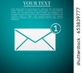 received message concept. new ... | Shutterstock .eps vector #653839777