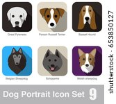 dog face character icon design... | Shutterstock .eps vector #653850127