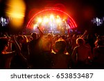 red lights of excitement cover... | Shutterstock . vector #653853487