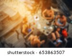 blur background of group of...   Shutterstock . vector #653863507