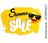 summer gradient mesh  vector... | Shutterstock .eps vector #653890417