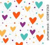 heart seamless pattern...   Shutterstock .eps vector #653891563
