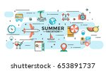 tourism infographic concept... | Shutterstock .eps vector #653891737