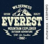 mountain explorer  wilderness ... | Shutterstock .eps vector #653894893