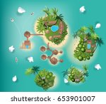 Islands Top View   Travel  Wit...
