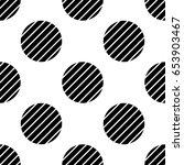 vector polka dot background... | Shutterstock .eps vector #653903467