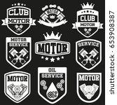 Set Of Vintage Motor Club Or...