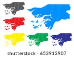 vector map   set of vector... | Shutterstock .eps vector #653913907
