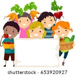 illustration of stickman kids... | Shutterstock .eps vector #653920927