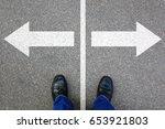 decision decide business... | Shutterstock . vector #653921803