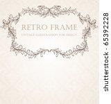 vertical vintage background for ...   Shutterstock .eps vector #65392228