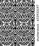 black and white aztec design  ... | Shutterstock .eps vector #653933197