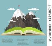 nature landscape in opened book ... | Shutterstock .eps vector #653938747