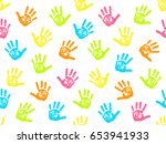 cute seamless pattern with... | Shutterstock .eps vector #653941933