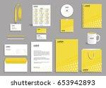 corporate identity design...   Shutterstock .eps vector #653942893