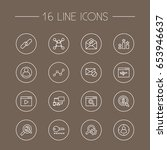 set of 16 engine outline icons... | Shutterstock .eps vector #653946637