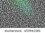 dark green vector abstract... | Shutterstock .eps vector #653961583