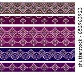 seamless horizontal border ...   Shutterstock .eps vector #653963923