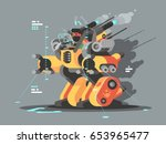 exoskeleton innovative robot | Shutterstock .eps vector #653965477