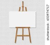 easel gradient mesh  vector... | Shutterstock .eps vector #653974717