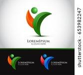 creative people logo design... | Shutterstock .eps vector #653982247