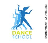 dance logo for dance school ... | Shutterstock .eps vector #653983303