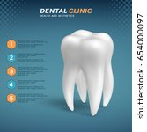 dental clinic infographic with... | Shutterstock .eps vector #654000097
