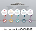 popular infographics elements | Shutterstock .eps vector #654004087