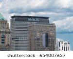 new york city   circa 2017 ... | Shutterstock . vector #654007627