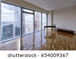 modern interior in a new luxury ... | Shutterstock . vector #654009367