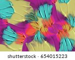 abstract acrylic and watercolor ... | Shutterstock . vector #654015223