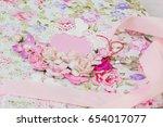 homemade album   folder.... | Shutterstock . vector #654017077