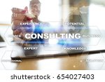 consulting business concept.... | Shutterstock . vector #654027403