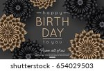 happy birthday greeting card... | Shutterstock .eps vector #654029503