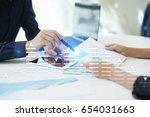stock trading  data analysis... | Shutterstock . vector #654031663