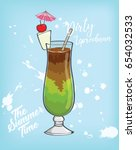 dirty leprechaun in summer time | Shutterstock .eps vector #654032533