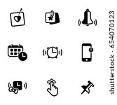 set of simple icons on a theme...   Shutterstock .eps vector #654070123