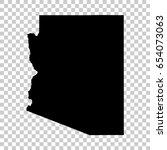 arizona map isolated on... | Shutterstock .eps vector #654073063