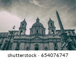 rome   january 6  streets of... | Shutterstock . vector #654076747