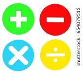 plus minus multiply divide sing ... | Shutterstock . vector #654079513
