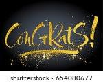 congrats  hand lettered...   Shutterstock .eps vector #654080677
