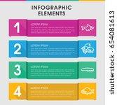 modern fauna infographic... | Shutterstock .eps vector #654081613