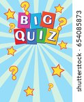 big quiz poster leaflet  ... | Shutterstock . vector #654085873