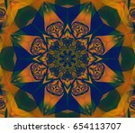 abstract gothic fractal with... | Shutterstock . vector #654113707