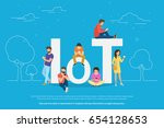 internet of things concept... | Shutterstock .eps vector #654128653
