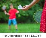 teen boy and girl playing...   Shutterstock . vector #654131767