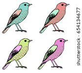 birds  | Shutterstock .eps vector #654134677
