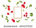 clipboard mock up with... | Shutterstock . vector #654137023